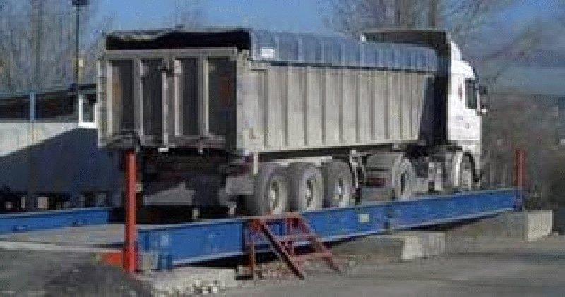 Báscula para camiones sobresuelo